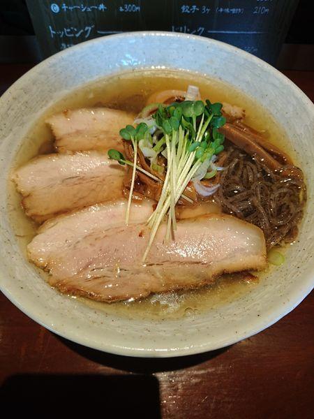 「特製ラーメン 塩 790円(そば殻麺) 餃子3ヶ(ラーパス)」@麺 匠仁坊の写真