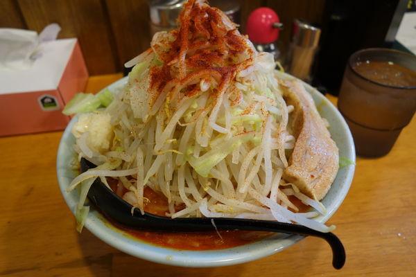 「ファイヤー麺(味噌3辛)730円ヤサイ多めニンニク」@郎郎郎 八王子店の写真