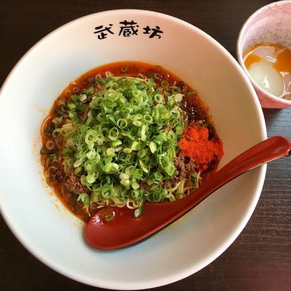 「担担麺 濃厚胡麻 (600円) 温玉 (100円)」@汁なし担担麺 武蔵坊の写真