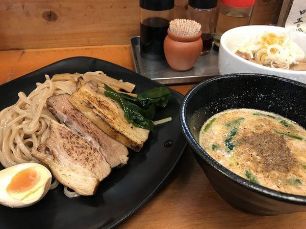 「つけ麺+半もつ丼」@麺や卯の写真