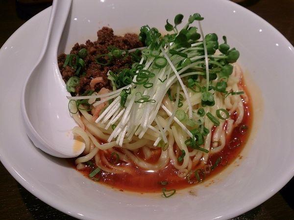 「日式担担麺・辛さ3・痺れ2+温玉+小ライス」@六坊担担面の写真