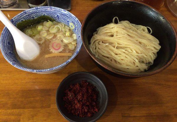 「つけ麺(並) ¥780 & 紅葉特製辛味皿 ¥50」@つけ麺 紅葉の写真