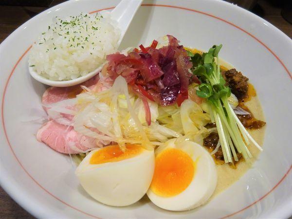 「汁なし担担麺 (ミニライス付) 1000円」@八咫烏の写真