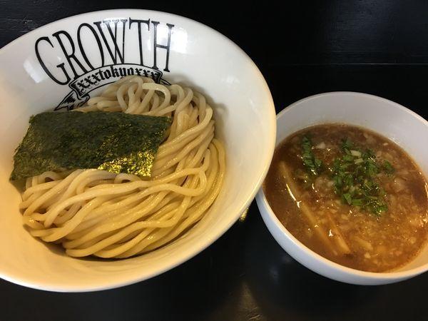 「つけ麺 中 770円 玉ねぎ増し 50円」@麺処GROWTHの写真