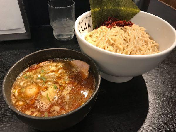 「特製辛つけ麺」@江戸前煮干中華そば きみはん 五反田店の写真