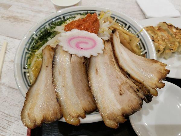 「からし味噌もやしらーめん チャーシュートッピング」@ちゃーしゅうや武蔵 イオン南松本店の写真