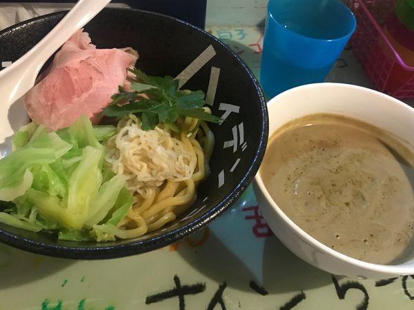 「トリュフ搾りつけ麺 大盛 レアチャーシュー」@つけ麺屋 丸孫商店の写真