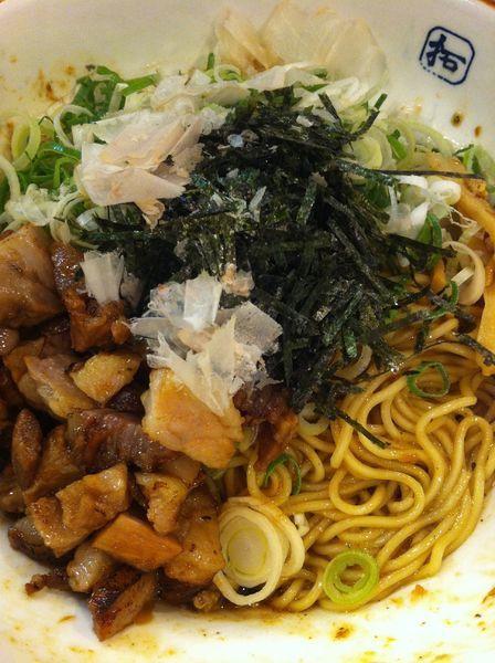「汁なし和風そば」@麺や拓 堀江本店の写真