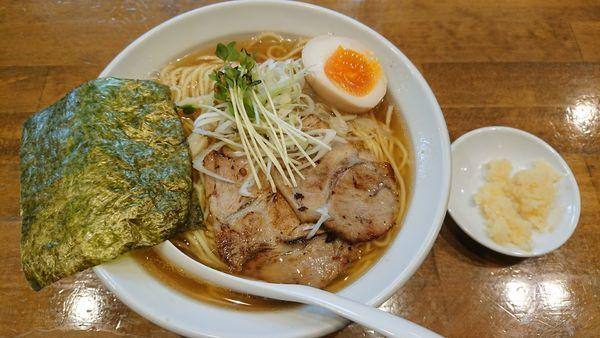「煮干中華そば+麺大盛り+にんにく」@ふうびの写真