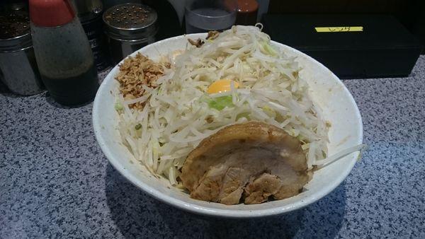 「汁なしそば・大(ヤサイマシアブラマシ)¥900」@ラーメン宮郎の写真