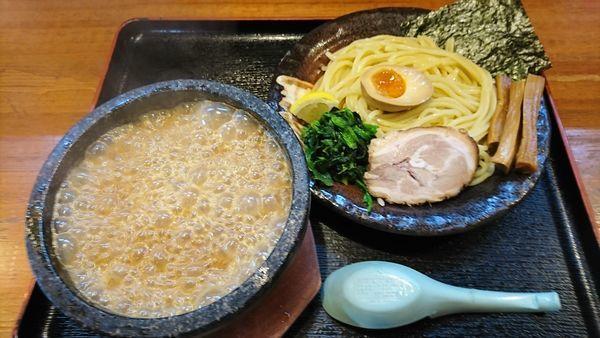 「濃厚豚骨伊勢海老つけ麺 840円」@竹本商店★つけ麺開拓舎の写真