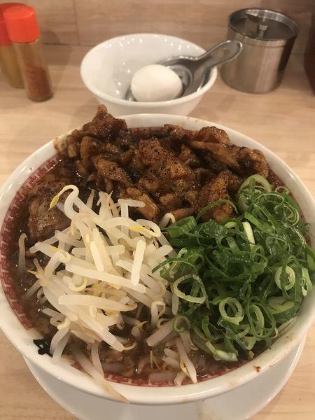 「辛い肉汁麺 levrl3」@肉汁麺ススム 秋葉原本店の写真