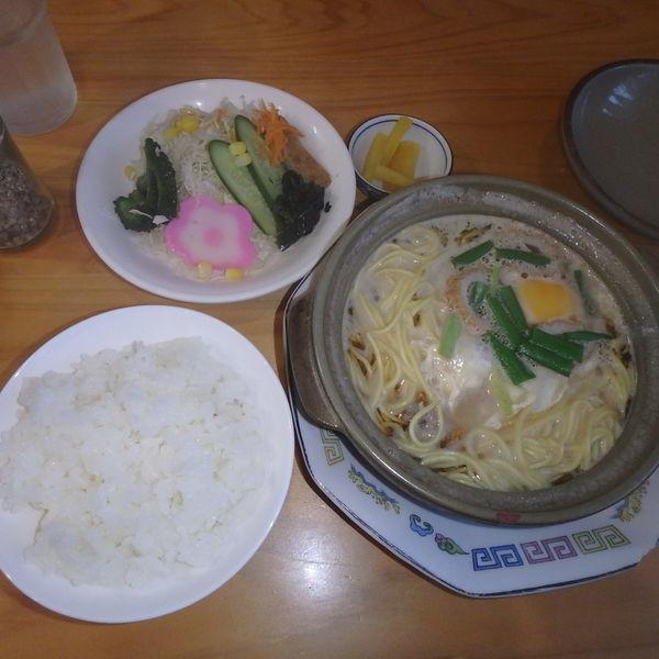 「ミニ鍋ごはんセット (650円)」@風待茶房の写真