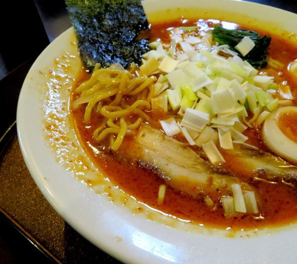「辛味噌+葱(1,100円」@信濃神麺 烈士洵名の写真