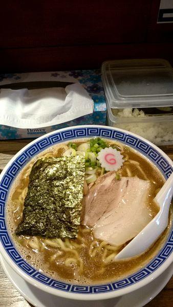「ウオウオ中華そば(大盛)」@麺屋ジャイアン弐の写真