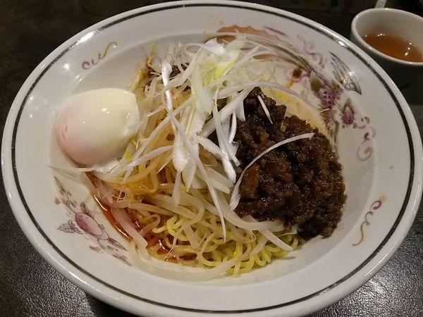 「【限定】汁なしハルシビ担々麺(麻辣哈爾坦坦)」@ハルピンラーメン 塩尻広丘駅前店の写真