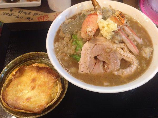 「【限定】カニ郎・遊び飯、1400円」@ラーメン愉悦処 似星の写真