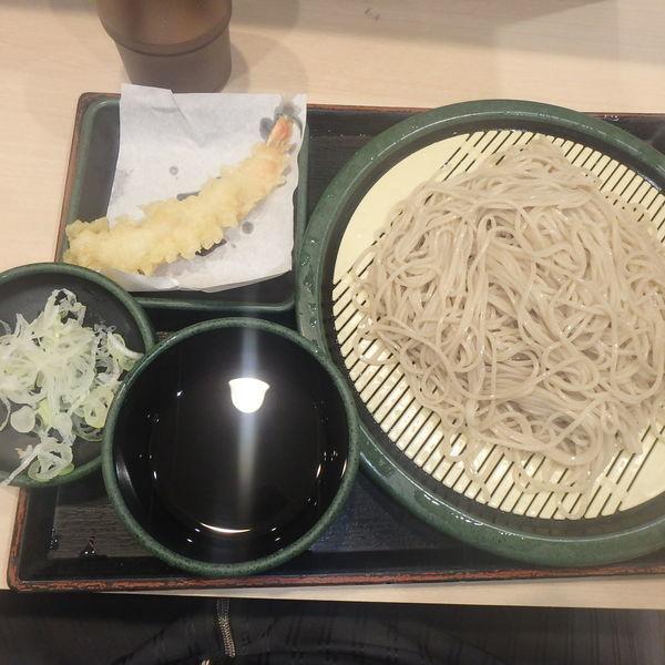 「もり(320円)、海老天(クーポン)」@ゆで太郎 馬橋店の写真
