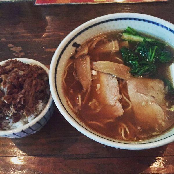 「和風醤油らぅめん(¥600)+そぼろご飯(¥100)」@らぅめん とくやの写真