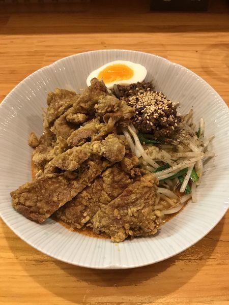 「汁なし排骨担々麺」@かつぎやの写真