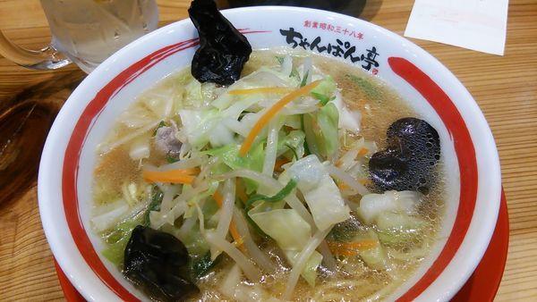 「近江ちゃんぽん 野菜大盛」@ちゃんぽん亭総本家 彦根駅前本店の写真