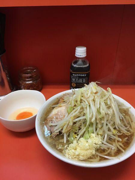 「小ラーメン(ヤサイ、ニンニク、カラメ、卵)」@ラーメン二郎 神田神保町店の写真
