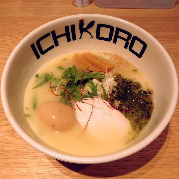 「純鶏あおさそば(890円)」@鶏そば十番 156 ICHIKORO トリエ京王調布店の写真