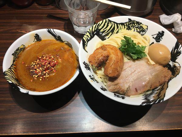 「つけ麺(辛さレベル3)」@麺屋武蔵 鷹虎の写真