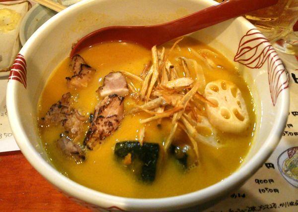 「【10月27・28日限定】カボチャの味噌白湯 850円」@麺処 あす花の写真