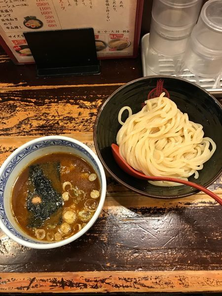 「つけ麺・小 730円」@つけ麺専門店 三田製麺所 池袋西口店の写真