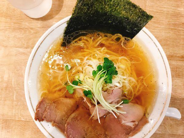 「塩中華そば」@麺や マルショウ 新大阪店の写真