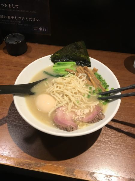 「濃厚鶏ラーメン、味玉」@自家製麺 麺処 東行の写真