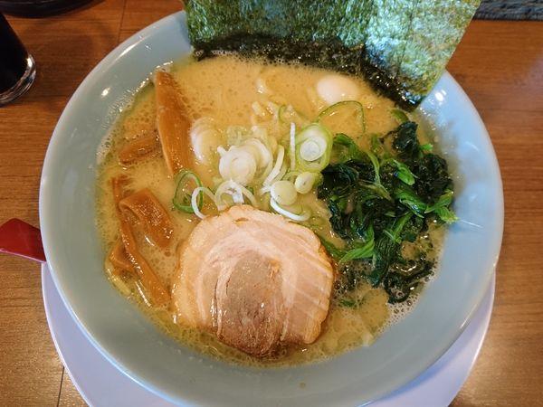 「豚骨醤油ラーメン(薄め、硬め、多め)」@富意家の写真