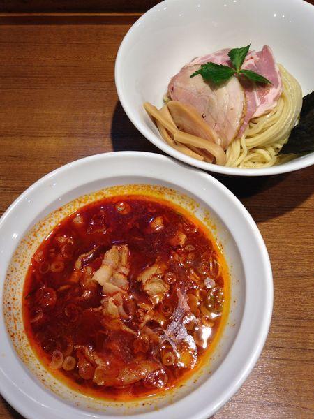 「【限定】旨辛つけそば  鶏」@寿製麺よしかわ 川越店の写真