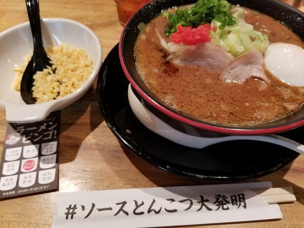 「期間限定 ソースとんこつ 太麺」@博多一風堂 松本店の写真