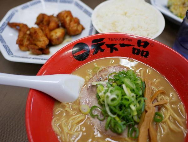 「鶏唐揚げ定食 並 麺硬め」@天下一品 錦糸町店の写真