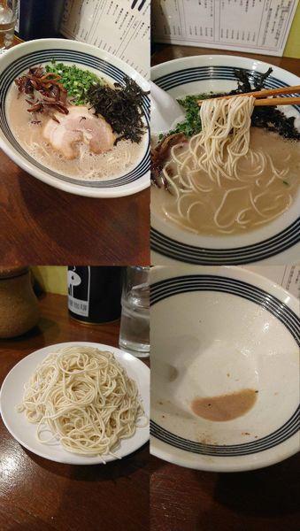 「『塩豚骨ラーメン+替え玉(¥690+100)』をバリカタで…」@豚骨 アンテナヌードルズの写真