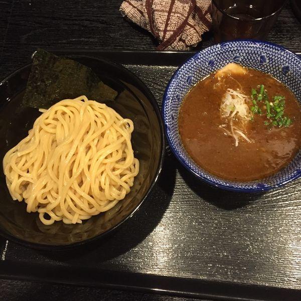 「濃厚魚介つけ麺 + カレ変ライス」@麺屋 中川會 錦糸町店の写真