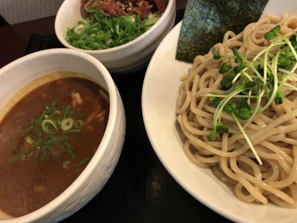 「カレーつけ麺 ねぎ豚ごはん」@ブラウン製麺所の写真
