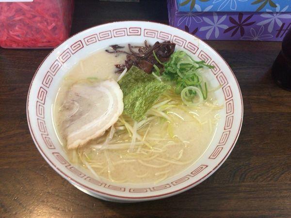 「塩白髪ネギラーメン&替え玉2」@豚骨ラーメン いちもんじの写真
