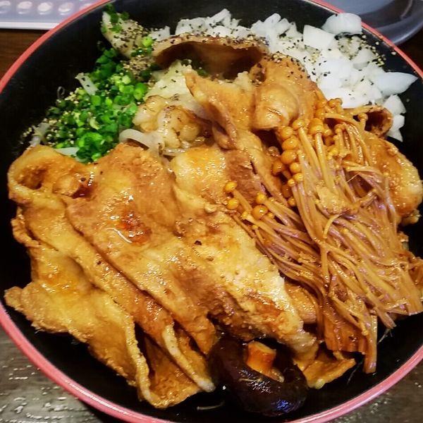 「【限定】豚すき焼きジロー 890円」@麺屋 天海の写真