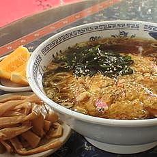 「天津麺850円(麺かため)+つまみメンマ140円」@富久栄楼の写真