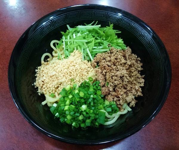 「汁なし担々麺(成都担担麺)  800円」@晴々飯店の写真
