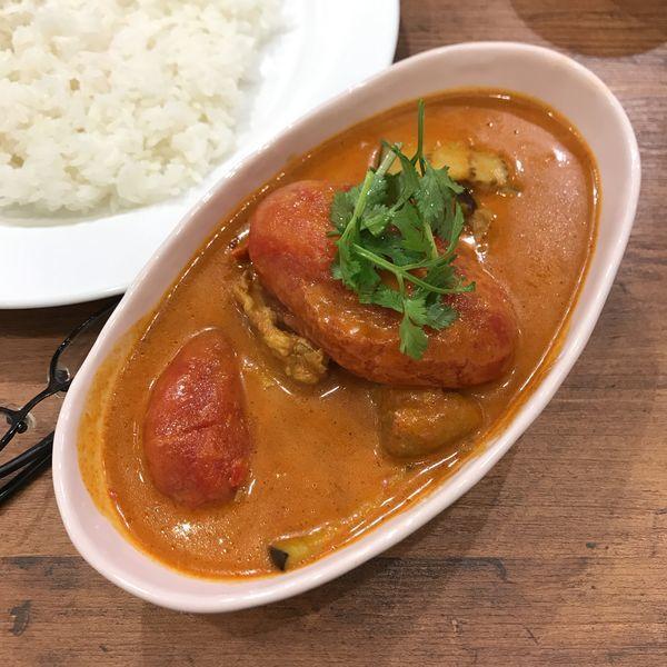 「完熟トマトとナスのチキンカリー」@YAMITUKIカリー 西池袋店の写真