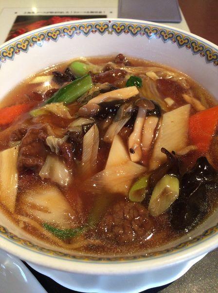 「牛肉とたっぷり野菜のオイスターあんかけ麺 ¥1000」@神田雲林の写真