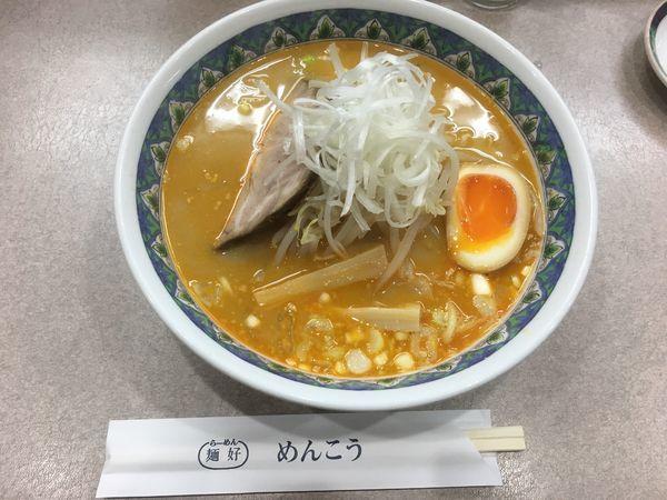 「みそらーめん800円、餃子400円」@らーめん 麺好の写真