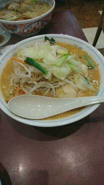 「四川コッテリ味噌ラーメン+餃子」@麺工房 男爵 市川本店の写真