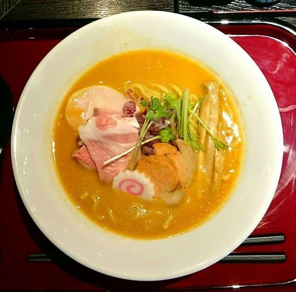「あん肝と牡蠣の味噌鶏そば【限定】」@鶏そば なんきち 東京店の写真