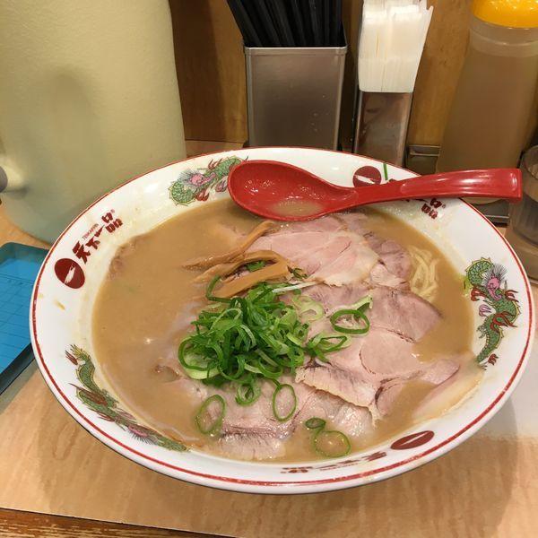 「特大チャーシュー麺(コッテリ)」@天下一品 水道橋店の写真