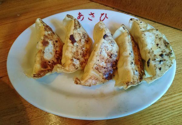 「餃子(5個)400円」@中華料理 あさひの写真